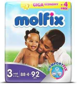 Molfix Diapers - Midi - Size 3 - Giga Economy