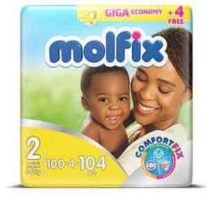 Molfix Baby Diapers - Mini - Size 2 - Giga Economy