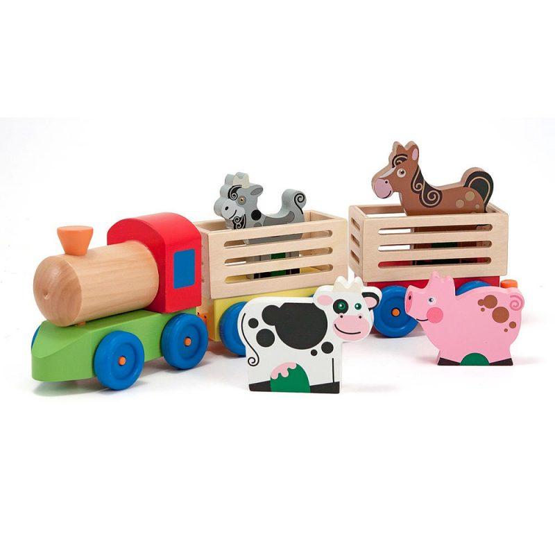 Animal Train Set : Melissa and doug farm animals train set babies