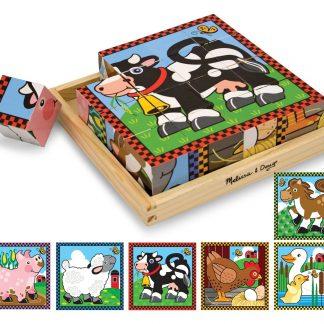 000772007757-Melissa & Doug Farm Cube Puzzle