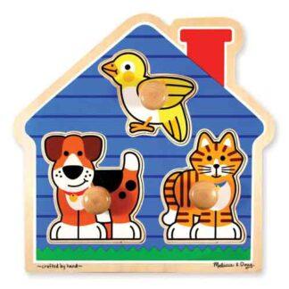 000772020558-MELISSA & DOUG HOUSE PETS JUMBO KNOB KIDS PUZZLE