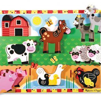 000772037235-Melissa and Doug Farm Chunky Kids Puzzle _2