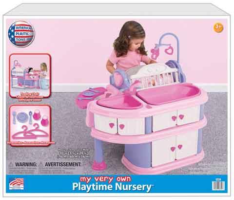 025217236103 American Plastic Toys 7 Piece Playtime Nursery
