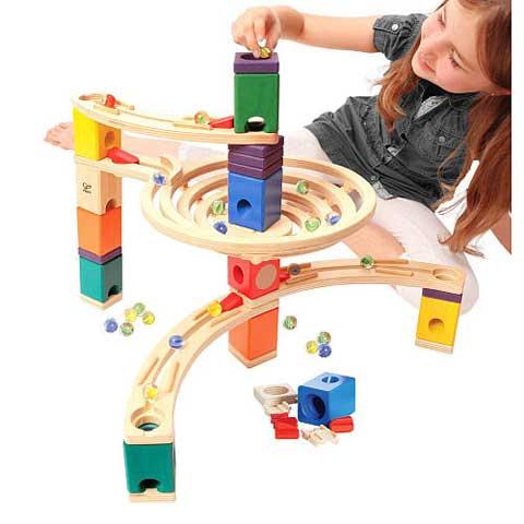 6943478007772-hape-quadrilla-roundabout-wooden-marble-run