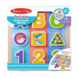 Melissa & Doug First Play Chunky Puzzle ABC / 123