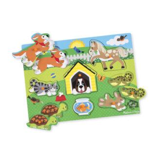Melissa & Doug Pets Peg Kids Puzzle