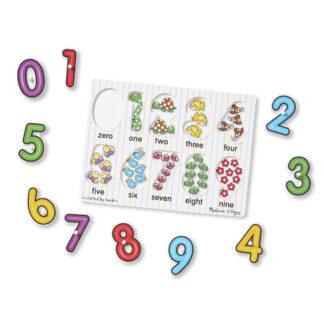 Melissa & Doug See-Inside Peg Numbers Puzzle