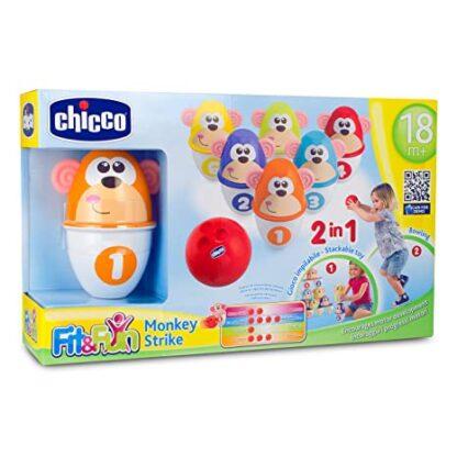 Chicco Fit & Fun Monkey Strike Bowling Set Toy