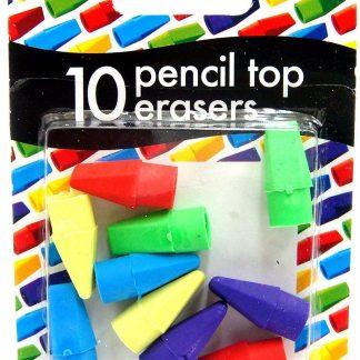 10 Pencil Top Erasers