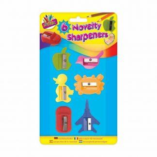6 Novelty Pencil Sharpeners